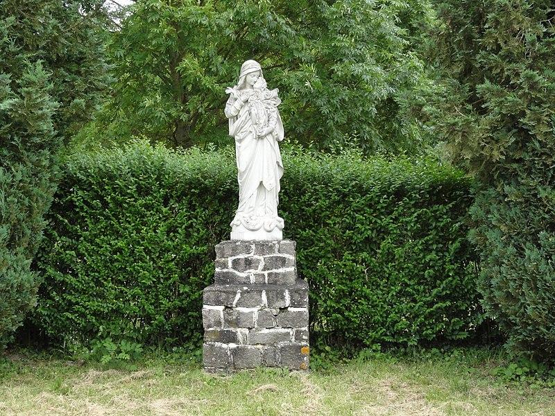 Roville-devant-Bayon (M-et-M) statue Vierge et Enfant