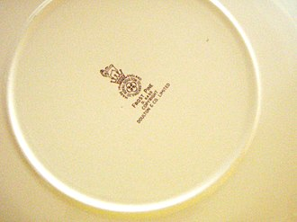 Royal Doulton - Backside of a Frost Pine plate of Royal Doulton with the seal