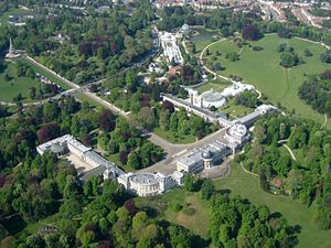 Castle of Laeken - Castle of Laeken and park from the air