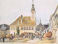 Rudolf von Alt - Das Rathaus in Mödling - 1842.jpeg