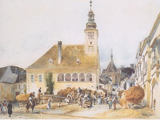 Rudolf von Alt - Das Rathaus in Mödling - 1842