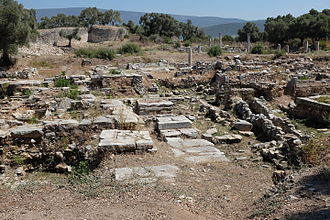 Iasos - Ruins on the agora, possibly from the basilica