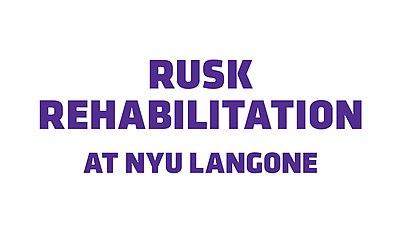 Rusk Institute of Rehabilitation Medicine - Wikipedia