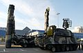 Russian Tor-M1 and S-300V SAM in 2008.jpg