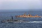 Russian cruiser Marshal Ustinov and HMS St Albans MOD 45165079.jpg