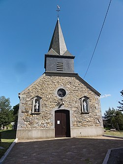 Sévigny-la-Forêt (Ardennes) église façade.JPG