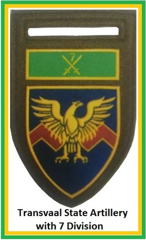 Transvaalse Staatsartillerie - Image: SADF 7 Division Transvaal State Artillery Flash