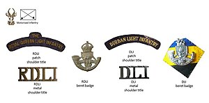 Durban Light Infantry - SADF and UDF eras Durban Light Infantry insignia
