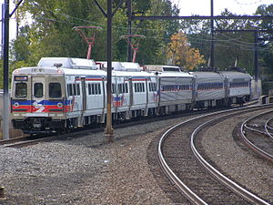 Silverliner - A train with Silverliners II through V at Fern Rock