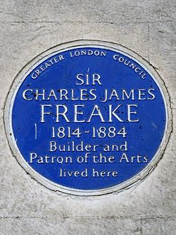 Sir charles james freake 1814 1884 builder and patron of the arts lived here