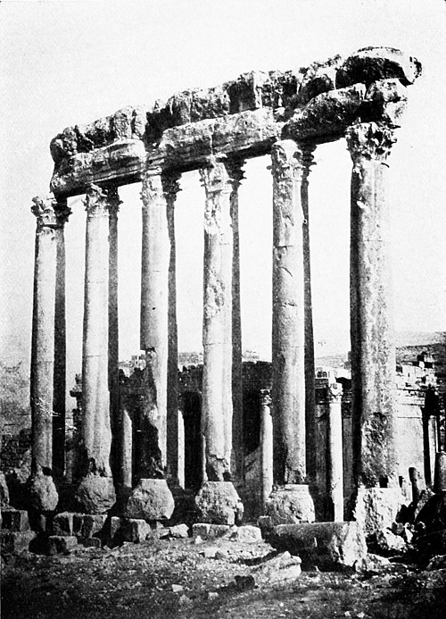 The six great columns and the Temple of Bacchus