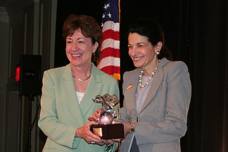Susan Collins - With former US Senator Olympia Snowe (also R-ME)