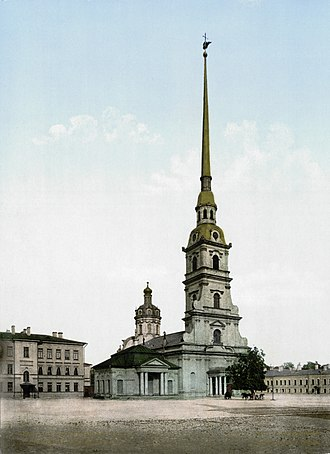 Domenico Trezzini - Peter and Paul Cathedral is the most celebrated work by Domenico Trezzini (image, 1896-97).