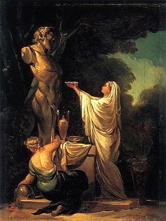 Francisco Goya - Sacrifice to Pan, 1771. Colección José Gudiol, Barcelona