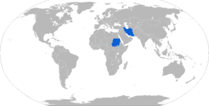 Type 72Z - Map of Type 72Z operators in blue with former users in red