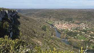 Saint-Antonin-Noble-Val - View of the town from Roc d'Anglars