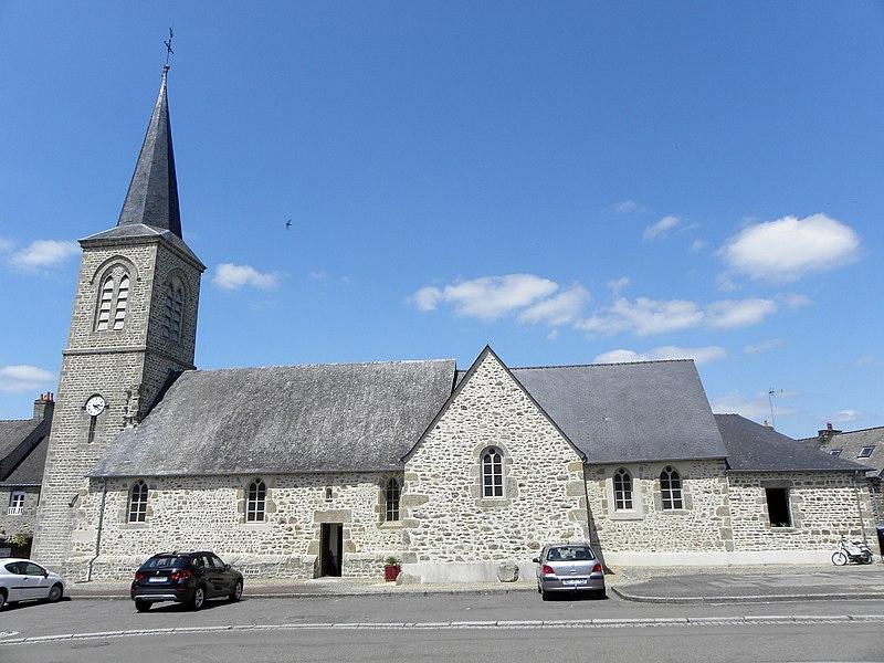 Église de Saint-Fraimbault-de-Prières (53).