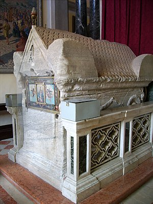 Euphemia -  Sarcophagus containing some of the relics of Saint Euphemia in Rovinj, Croatia.