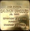 Salomon Ginsburg Stolperstein.JPG