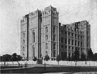 Truman O. Angell - Salt Lake Temple in 1892