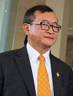 Sam Rainsy Cambodian politician