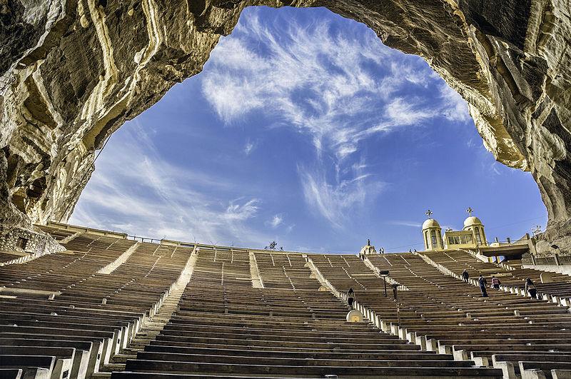 15 місце. Монастир Святого Симона Кожум'яки в Каїрі, Єгипет. Автор фото — Hoba offendum, CC-BY-SA-4.0