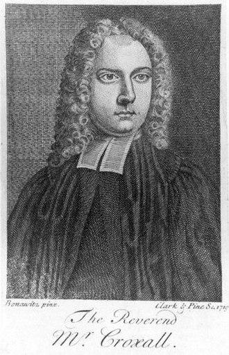 Samuel Croxall - A contemporary print of Samuel Croxall