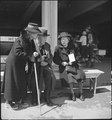 San Bruno, Caliofnira. These older evacuees of Japanese ancestry have just been registered and are . . . - NARA - 537679.tif