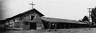 Luis Antonio Argüello - The 1840 rebuilt Mission San Francisco Solano circa 1910, last of the 21 missions