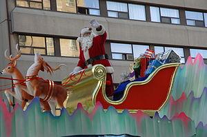 Santa Claus in parade, in Toronto