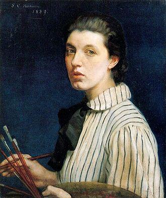 Sarah Cecilia Harrison - Sarah Cecilia Harrison's 1889 self-portrait is now in Dublin City Gallery