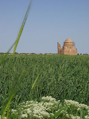 Sarakhs -  Loghman Baba mausoleum, Sarakhs, built in 1356 and recently partially restored.