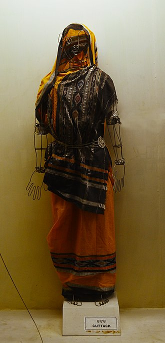 Culture of Odisha - Traditional sari draping style of Cuttack.