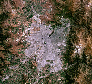 Satellite image of Santiago, Chile - October 24, 2014