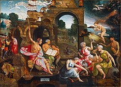 Saul and the Witch of Endor by Jacob Cornelisz van Oostsanen