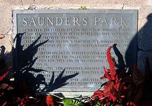 Saunders Park (Nova Scotia) - Image: Saunders Park plaque