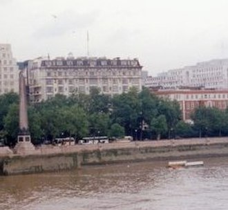 Peter Warlock - The Savoy Hotel, London: Philip Heseltine's birthplace (1994 photograph)