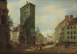 Heinrich Adam - The Isar tower, 1834