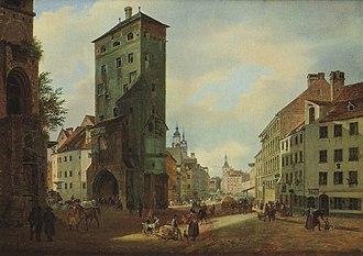Heinrich Adam - The Isar tower, 1834