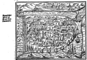 Salomon Schweigger - Schweigger's illustration of Constantinople c. 1578