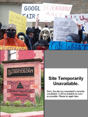Scientology and the Internet - Image: Scientology versus the Internet