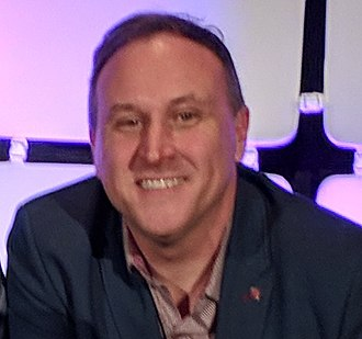 """Scott Trowbridge - Trowbridge after the """"Legends: Adapting IPs for Parks and Attractions. What Works, What Does Not"""" panel at IAAPA IAE 2017"""