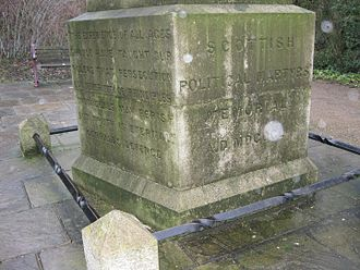 Nunhead Cemetery - The base of the Scottish Martyrs Monument