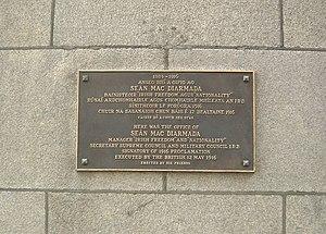 Seán Mac Diarmada - Plaque outside offices in Dublin once used by Seán MacDiarmada