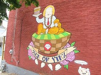"Rick Sebak - ""Zen of Yinz"", Mural of Rick in Lawrenceville, Pittsburgh by Brian Gonella"