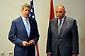Secretary Kerry Meets With New Egyptian Foreign Minister Shoukry in Cairo (14499336393).jpg