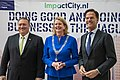 Secretary Pompeo Poses for a Photo With Mayor Krikke and Dutch Prime Minister Rutte (47995777552).jpg