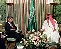 Secretary of the Treasury Robert Rubin meets with the Saudi Crown Prince, Abdullah bin Abdel-Aziz al-Saud.jpg