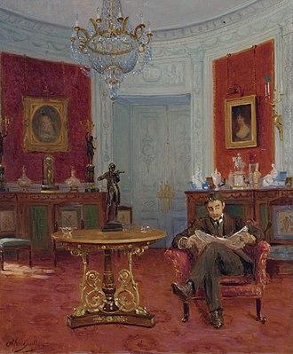 Alfred Guillou - Self-portrait in an Interior (date unknown)