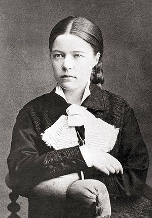 Selma Lagerlöf - Anna Ollson, Karlstad. Photograph of writer Selma Lagerlöf. Taken in 1881